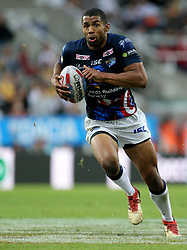 Leeds Rhino's Kallum Watkins during the Betfred Super League, Magic Weekend match at St James' Park, Newcastle. PRESS ASSOCIATION Photo. Picture date: Saturday May 19, 2018. See PA story RUGBYL Castleford. Photo credit should read: Richard Sellers/PA Wire. RESTRICTIONS: Editorial use only. No commercial use. No false commercial association. No video emulation. No manipulation of images.
