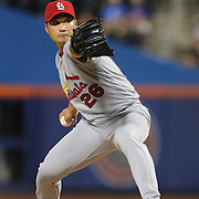 NEW YORK, NEW YORK - July 27: Pitcher Seung Hwan Oh #26 of the St. Louis Cardinals pitching during the St. Louis Cardinals Vs New York Mets regular season MLB game at Citi Field on July 27, 2016 in New York City. (Photo by Tim Clayton/Corbis via Getty Images)