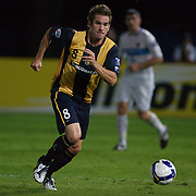 Dean Heffernan in action during the group H group stage match between the Central Coast Mariners of Australia and Pohang Steelers of Korea in Gosford, Australia on March 11 2009, The match ended in a 0-0 draw. Photo Tim Clayton