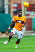 Gael Bigirimana (#17) of Motherwell FC during the Ladbrokes Scottish Premiership match between Motherwell and Heart of Midlothian at Fir Park, Motherwell, Scotland on 15 September 2018.