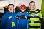 Player sponsors Forest Green Rovers Reece Brown(10) during the EFL Sky Bet League 2 match between Forest Green Rovers and Crawley Town at the New Lawn, Forest Green, United Kingdom on 24 February 2018. Picture by Shane Healey.