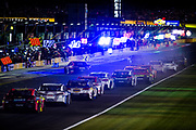 May 20, 2017: NASCAR Monster Energy All Star Race. Cars come down pit road to make pitstops