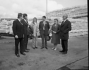 British Merchants Visit Bord Na Mona..07.06.1972..06.07.1972..7th June 1972..A group of forty British Merchants were invited by Bord na Mona to tour their works at Coolnamona,Portlaoise,Co Laois..Photograph taken of several of the British Merchants touring group at the facility in Coolnamona.