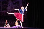 Dance phenomenon Les Ballet Trockedero de Monte Carlo is the award-winning, all-male, comedy ballet company hailing from New York. <br /> <br /> La Trovatiara Pas de Cinq, choreographed by Peter Anastos and featuring Joshua Thake, . <br /> Peacock Theatre, London.<br /> <br /> &copy; Tony Nandi 2018