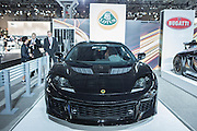 New York, NY, USA-23 March 2016. A Lotus Evora 400, the fastest production Lotus ever. It has a 400hp V6, 34 valve engine.