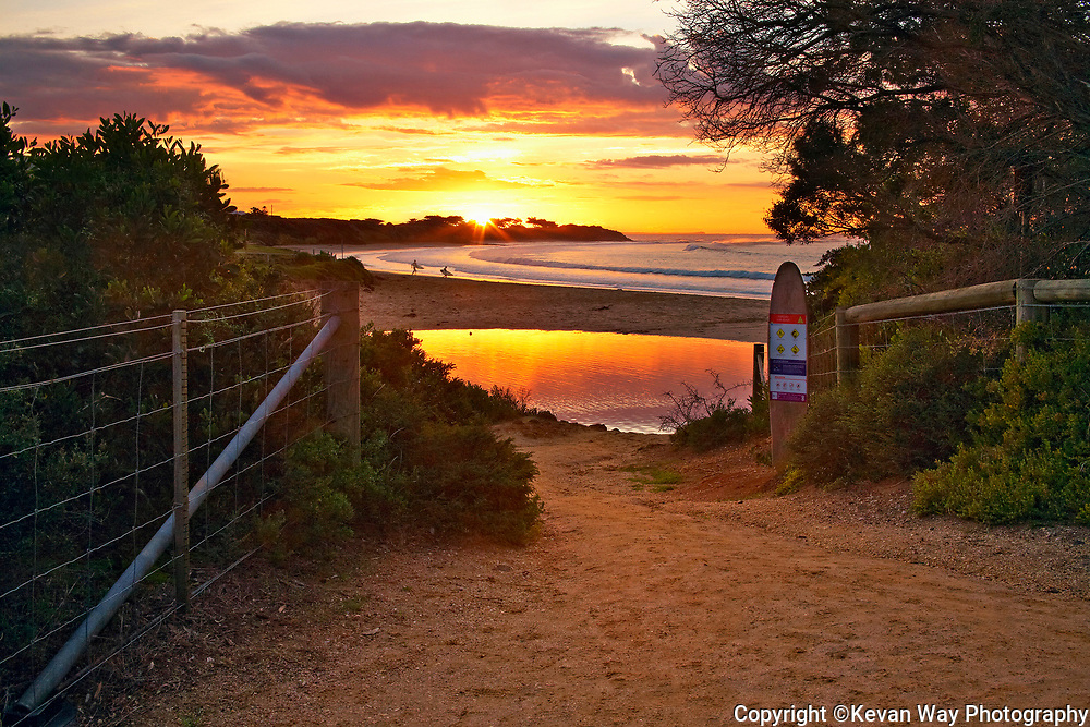 sunrise session at Torquay Surf Beach