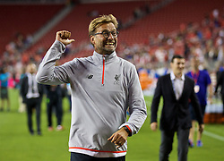 SANTA CLARA, USA - Saturday, July 30, 2016: Liverpool's manager Jürgen Klopp after the 2-0 victory over AC Milan during the International Champions Cup 2016 game on day ten of the club's USA Pre-season Tour at the Levi's Stadium. (Pic by David Rawcliffe/Propaganda)