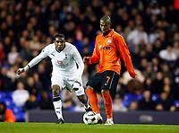 Tottenham's Wilson Palacios Fernandinho of FC Shakhtar Donetsk Tottenham Hotspur Vs Shakhtar Donetsk at White Hart Lane London England<br /> UEFA Cup Third Round Second Leg.<br /> 26/02/2009. Credit Colorsport  / Kieran Galvin