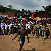 A man dances as supporters of Burundi's ruling party CNDD-FDD (National Council for the Defence of Democracy - Forces for the Defence of Democracy) hold a rally in Rubiza. Burundi's ruling party said on June 23 it had boycotted the restart of UN-led talks hoped to broker peace between rival parties following weeks of violence and ahead of elections on June 29. The troubled central African nation has been in crisis since late April over President Pierre Nkurunziza's controversial bid to stand for a third consecutive five-year term.