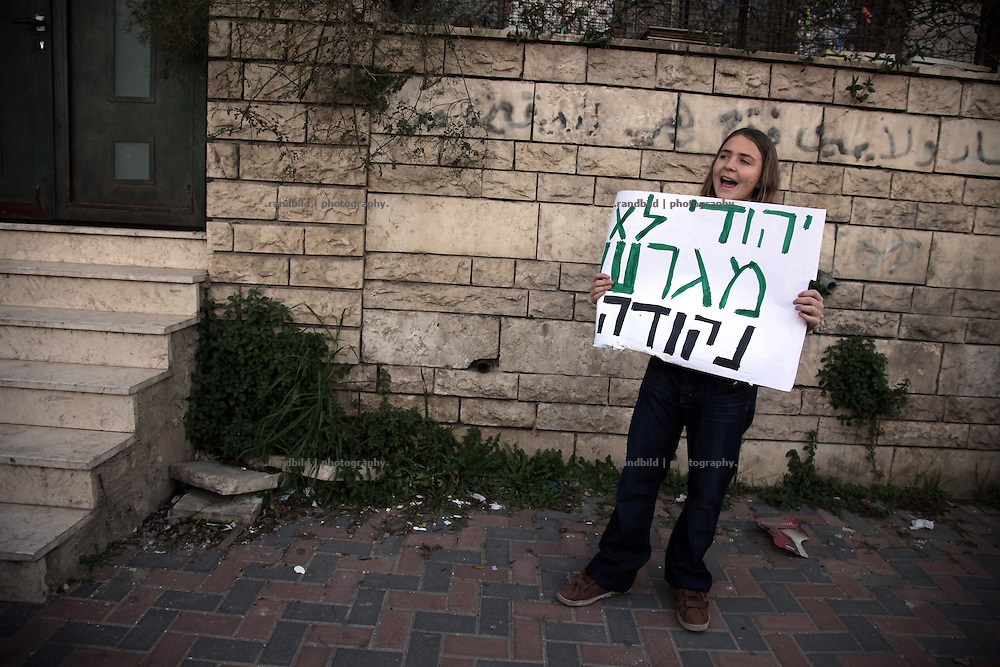 Weekly protest against evictions of palestinian houses in Sheik Jarrah, East Jerusalem, to give the property to jewish inhabitants.