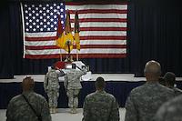 memorial for a dead American soldier - Mosul Iraq