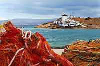 Grece, les Cyclades, ile de Koufonissi, moulin a Hora // Greece, Cyclades islands, Koufonissi island, windmill at Hora