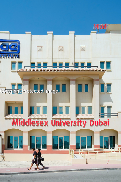 Dubai campus building of Middlesex University located in Internet City Dubai United Arab Emirates