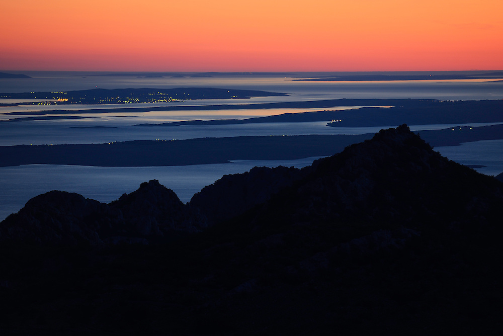 Sunset over the Adriatic Sea, Paklenica National Park, Velebit Nature Park, Rewilding Europe rewilding area, Velebit  mountains, Croatia