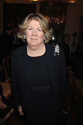 BARONESS GOUDIE at a party to celebrate the publication of Nancy Dell'Olio's book 'My Beautiful Game' held at the Italian Embassy, Grosvenor Square, London on 17th April 2008.<br />