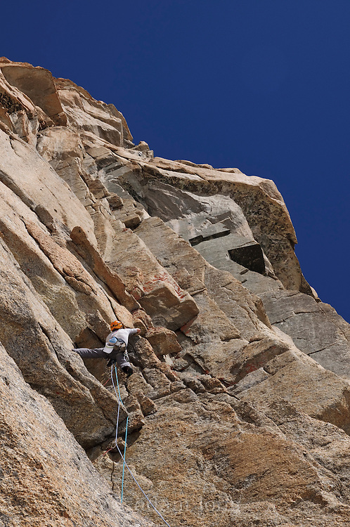 Ben Bransby on the Voie Petit, Grand Capucin