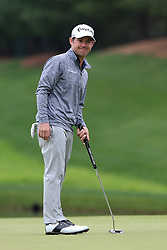 June 23, 2018 - Cromwell, Connecticut, United States - Brian Harman lines up a putt on the 8th green during the third round of the Travelers Championship at TPC River Highlands. (Credit Image: © Debby Wong via ZUMA Wire)