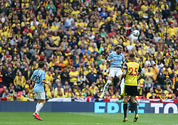 Kyle Walker of Manchester City heads the ball clear - Mandatory by-line: Arron Gent/JMP - 18/05/2019 - FOOTBALL - Wembley Stadium - London, England - Manchester City v Watford - Emirates FA Cup Final