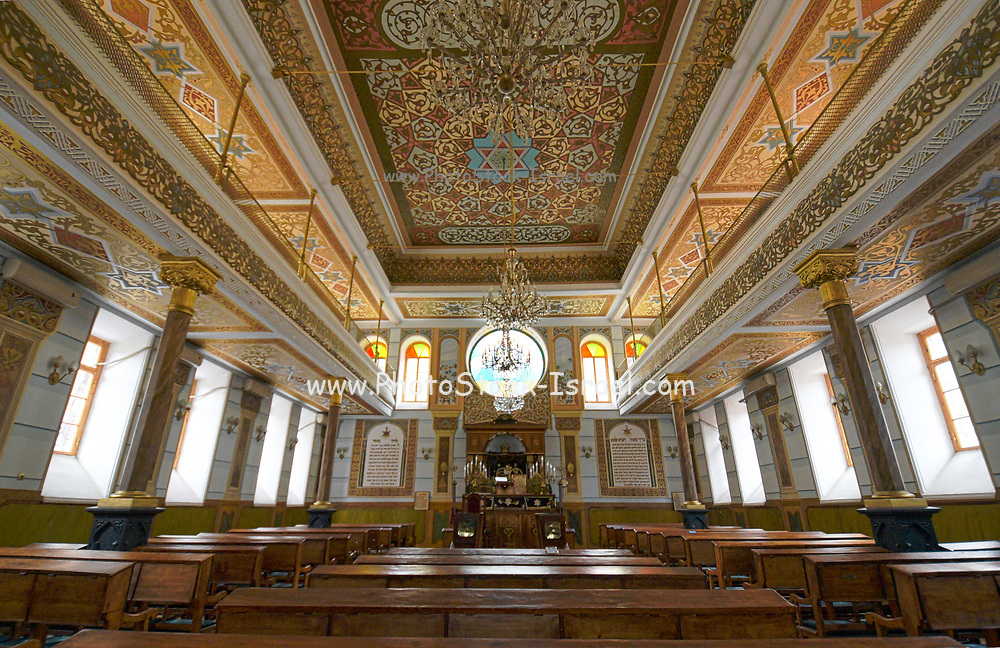 Interior of the Great Synagogue at 45-47 Leselidze Street in Tbilisi in the republic of Georgia.