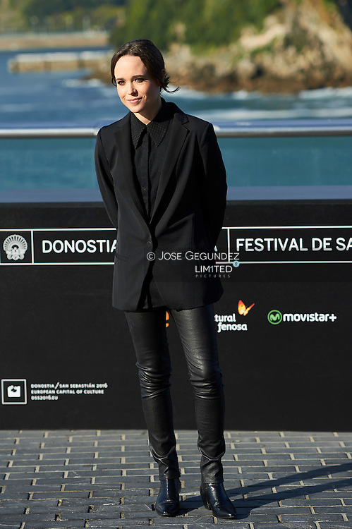 Ellen Page pose for 'Freeheld' photocall during 63rd San Sebastian International Film Festival at the Aquarium on September 24 in San Sebastian