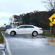 10/30/12 - Smyrna, DE - Hurricane Sandy - Motorist drive reverse on route 9 due raising water on the road Tuesday, Oct. 30, 2012, in Smyrna DE.  ..SAQUAN STIMPSON/Special to The News Journal