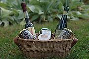 22 gift baskets for B&G Gourmet, shot in my garden in Hillsdale.