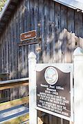 Original Garner Post Office at the Camp Walton Heritage Park in Fort Walton Beach, Florida.