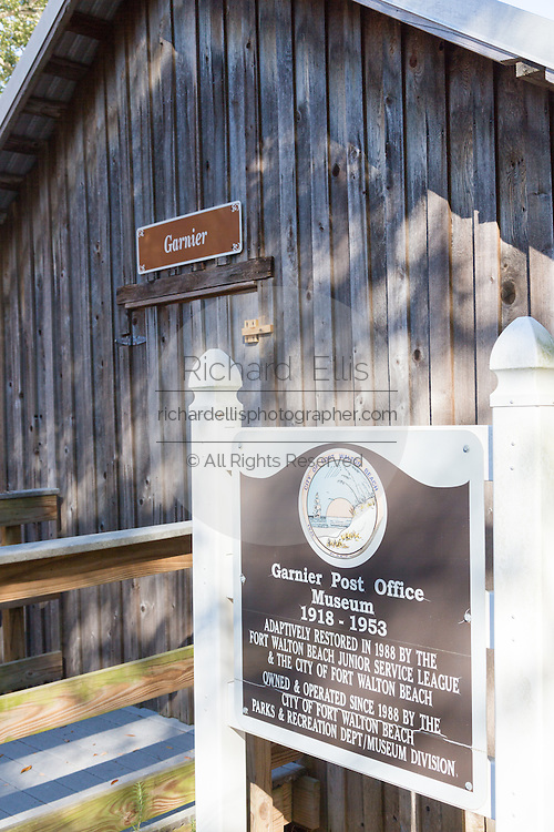 Original Garner Post Office at the Camp Walton Heritage Park in Fort Walton Beach, Florida.