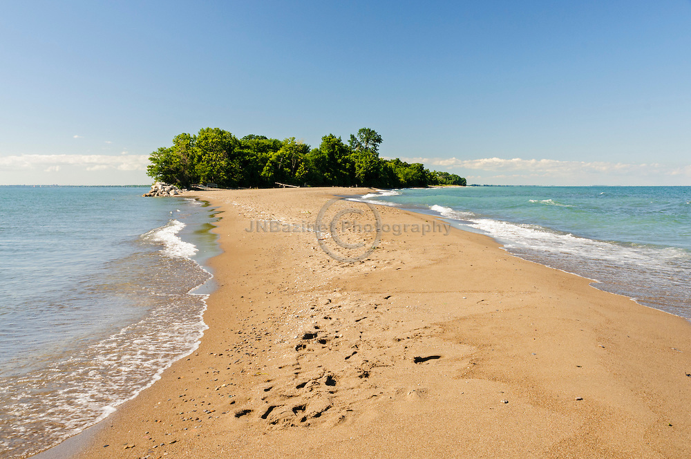 Mainland from the tip of Point Pelee, Ontario Canada
