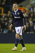 Millwall midfielder Shaun Williams (6) shouts during the The FA Cup fourth round match between Millwall and Everton at The Den, London, England on 26 January 2019.
