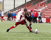 Steven Tront goes past a challenge - Dundee Argyle v Dykehead AFC in the Scottish Sunday Trophy semi final at Excelsior Stadium, Airdrie, Photo: David Young<br /> <br />  - &copy; David Young - www.davidyoungphoto.co.uk - email: davidyoungphoto@gmail.com