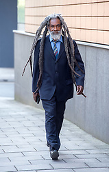 © Licensed to London News Pictures. 22/05/2018; Bristol, UK. Avon and Somerset race relations group founder JUDAH ADUNBI appears at Bristol Magistrates court. Judah Adunbi was arrested at his Bristol home on 18 April. Mr Adunbi of Easton, Bristol, was charged with a racially aggravated public order offence following an incident at a betting shop in Stapleton Road, Bristol, on 29 March. Mr Adunbi was Tasered in the face in January 2017 by police officer Claire Boddie who last week was found not guilty of assaulting Mr Adunbi. Mr Adunbi is a former race relations advisor to the police and was a founding member of an independent group between the police and prominent members of the African-Caribbean community. Photo credit: Simon Chapman/LNP