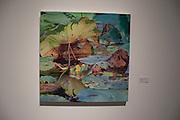 Claudia Tullos-Leonard<br /> Lotus Leaf<br /> Oil on canvas