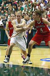 18 March 2011:  during an NCAA Womens basketball game between the Washington University Bears and the Illinois Wesleyan Titans at Shirk Center in Bloomington Illinois.