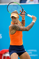 LIVERPOOL, ENGLAND - Friday, June 16, 2017: Polona Hercog (SLO) during Day Two of the Liverpool Hope University International Tennis Tournament 2017 at the Liverpool Cricket Club. (Pic by David Rawcliffe/Propaganda)
