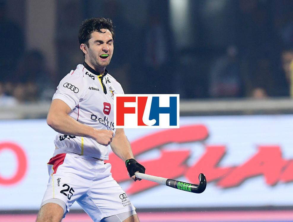 Odisha Men's Hockey World League Final Bhubaneswar 2017<br /> Match id:12<br /> Belgium v Netherlands<br /> Foto: Belgium scored a goal<br /> Loick Luypaert (Bel) <br /> COPYRIGHT WORLDSPORTPICS FRANK UIJLENBROEK