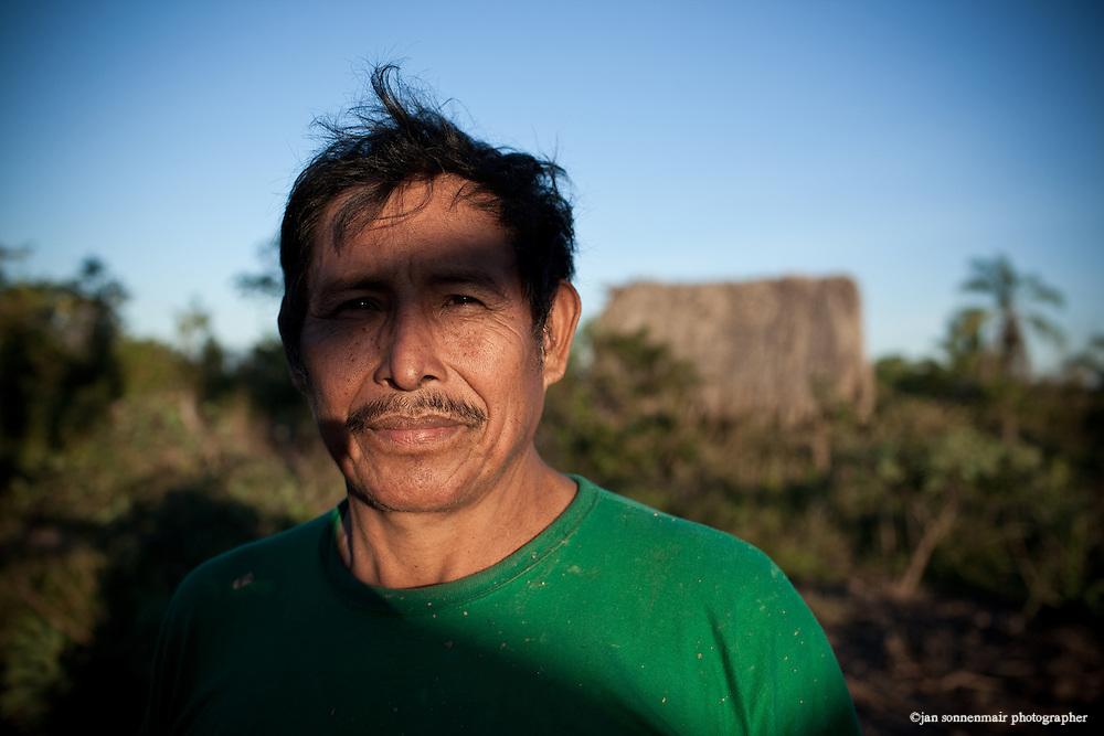 Bolivia. A man at sunset.