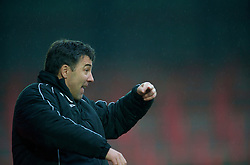 WREXHAM, WALES - Saturday, February 14, 2009: Wrexham's manager Dean Saunders during the Blue Square Premier League match against Grays Athletic at the Racecourse Ground. (Mandatory credit: David Rawcliffe/Propaganda)
