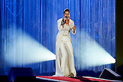 Cassadee Pope, the 2012 winner of the singing competition &ldquo;The Voice&rdquo;, sings the song &ldquo;Invincable&rdquo; during opening ceremony of the Special Olympics World Games Los Angeles 2015 at the Los Angeles Coliseum Stadium on July 25, 2015 in Los Angeles, USA.<br /> USA, Los Angeles, July 25, 2015<br /> <br /> Picture also available in RAW (NEF) or TIFF format on special request.<br /> <br /> For editorial use only. Any commercial or promotional use requires permission.<br /> <br /> Adam Nurkiewicz declares that he has no rights to the image of people at the photographs of his authorship.<br /> <br /> Mandatory credit:<br /> Photo by &copy; Adam Nurkiewicz / Mediasport