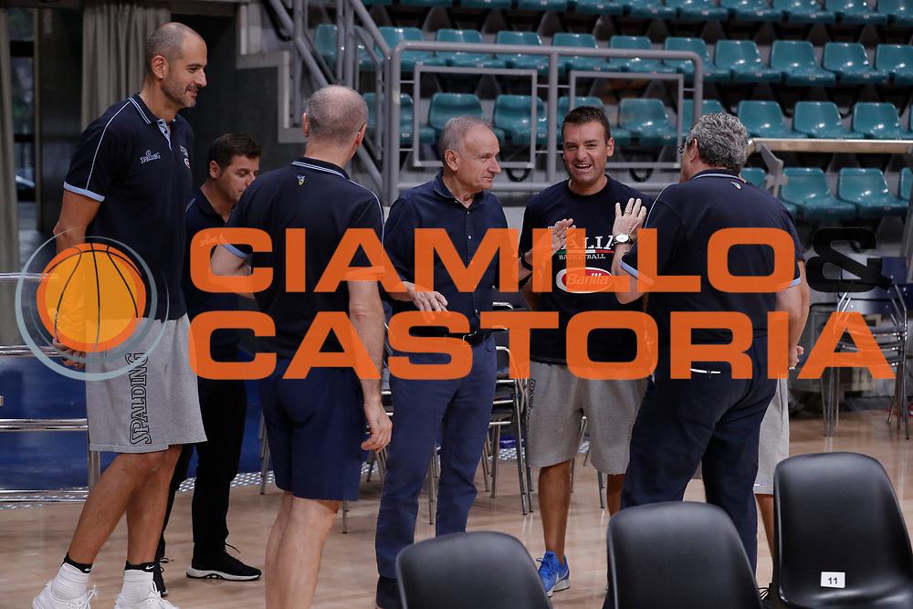 Giovanni Gianni Petrucci<br /> Nazionale Senior maschile<br /> Allenamento<br /> World Qualifying Round 2019<br /> Bologna 12/09/2018<br /> Foto  Ciamillo-Castoria / Giuliociamillo