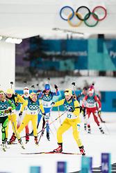 February 12, 2018 - Pyeongchang, SOUTH KOREA - 180212  Mona Brorsson of Sweden competes in the Women's Biathlon 10km Pursuit during day three of the 2018 Winter Olympics on February 12, 2018 in Pyeongchang..Photo: Jon Olav Nesvold / BILDBYRN / kod JE / 160156 (Credit Image: © Jon Olav Nesvold/Bildbyran via ZUMA Press)