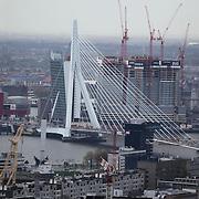 NLD/Rotterdam/20120427 - Overzicht Rotterdam centrum, Erasmusbrug