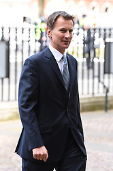 Foreign Secretary Jeremy Hunt attends the Anzac Day Service of Commemoration and Thanksgiving at Westminster Abbey, London. Photo credit should read: Doug Peters/EMPICS