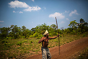 XErente indigenous man  trains with bows and arrow for the Indigenous Games at his village near Tocantinia, Brazil, Friday, October 2, 2015.  One nearly empty vastness some decades ago, the northern part of Goias state territory, Tocantins was the latest Brazilian state to be created,  27 years ago. Now, luring Brazilians with an abundance of natural resources, its indigenous heritage, an aura of sustainability, infrastructure and lower prices, the government vows that this solid investment package will make up the facade of a land of opportunity. And eventually attract qualified workforce to populate the area. Profiting from side publicity of two world events, Brazil aims at throwing some light on its developmental potential, and has already helped to transform the locally known national indigenous games in the first international event of this type. In some weeks thousands of indigenous athletes from 24 countries will flock to the arena to compete, share and showcase their faces to the world.  (Hilaea Media/ Dado Galdieri for the Wall Street Journal)