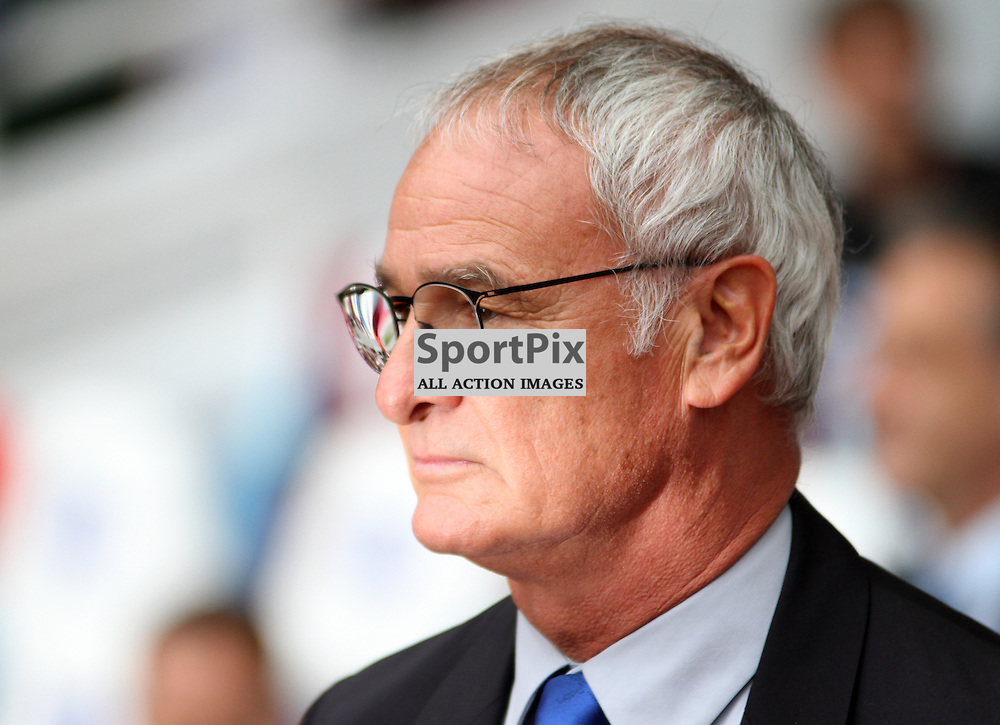 Leicester Manager Claudio Ranieri before the game against West Ham United and Leicester City on Saturday the 16th August 2015.