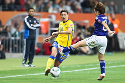 13.07.2011, Commerzbank Arena, Frankfurt, GER, FIFA Women Worldcup 2011, Halbfinale,  Japan (JPN) vs. Schweden (SWE), im Bild.Zweikampf zwischen Linda Forsberg (Schweden) (L) und Mizuho Skaguchi (Japan) (R).. // during the FIFA Women´s Worldcup 2011, Semifinal, Japan vs Sweden on 2011/07/13, Commerzbank Arena, Frankfurt, Germany.   EXPA Pictures © 2011, PhotoCredit: EXPA/ nph/  Mueller       ****** out of GER / CRO  / BEL ******