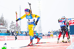 March 10, 2019 - –Stersund, Sweden - 190310 Mona Brorsson of Sweden looks dejected during the Women's 10 km Pursuit during the IBU World Championships Biathlon on March 10, 2019 in Östersund..Photo: Petter Arvidson / BILDBYRÃ…N / kod PA / 92254 (Credit Image: © Petter Arvidson/Bildbyran via ZUMA Press)