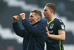 Luke Russe and James Clarke of Bristol Rovers celebrate their side's win over Milton Keynes Dons - Mandatory by-line: Robbie Stephenson/JMP - 03/03/2018 - FOOTBALL - Stadium MK - Milton Keynes, England - Milton Keynes Dons v Bristol Rovers - Sky Bet League One