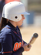 Middletown, NY - Jennifer Stefanowicz of SUNY Orange waits to bat during a women's softball game against Gloucester County College takes the throw during a women's softball game on March 29, 2008.