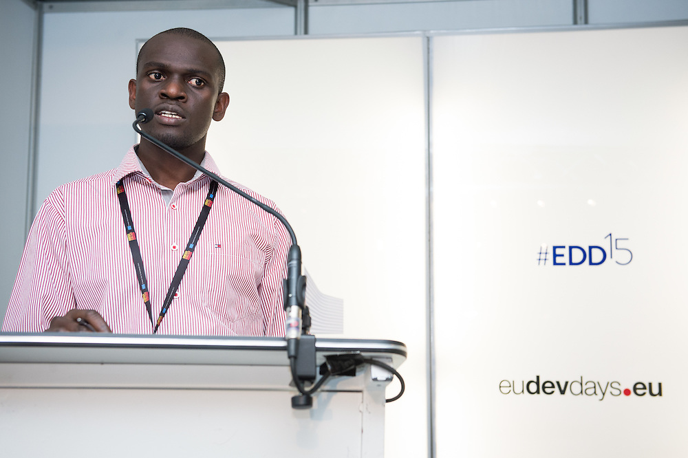 03 June 2015 - Belgium - Brussels - European Development Days - EDD - Food - Smallholder farmers powering global development - Martin Busobozi<br /> Agricultural Officer and Plant Doctor, Rwandan Agricultural Board &copy; European Union